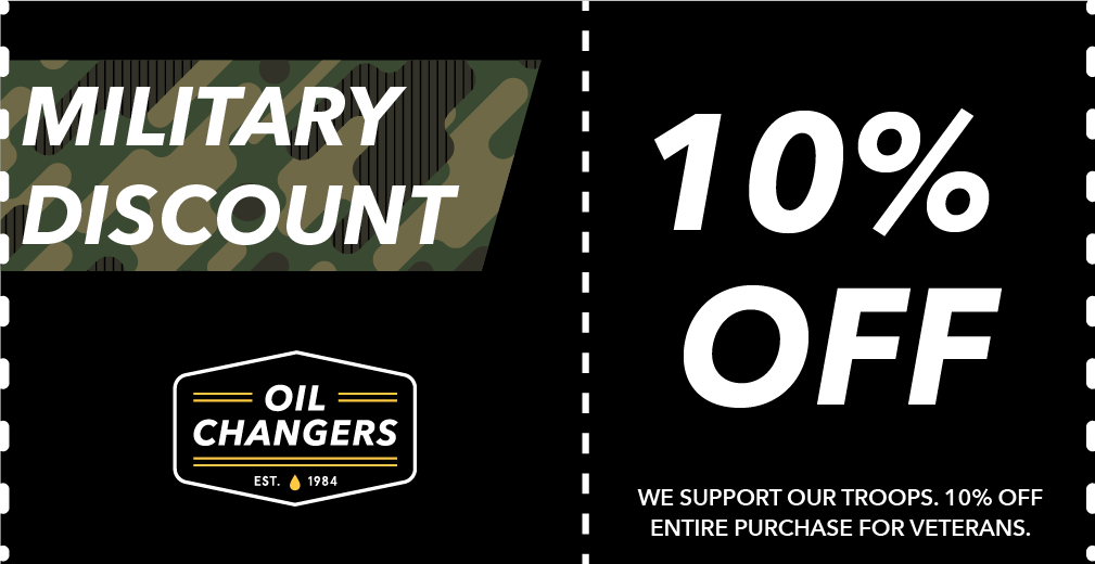 military discount oil changers