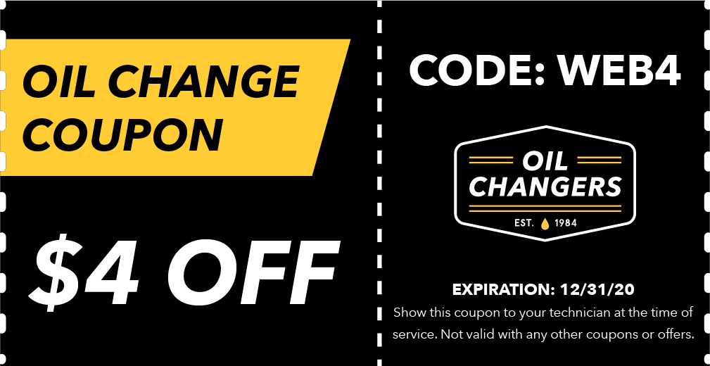 Web Oil Changers Coupon